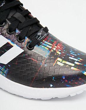 Vêtehommes Agrandir Adidas Noires Formateurs Flux wqBdAqa