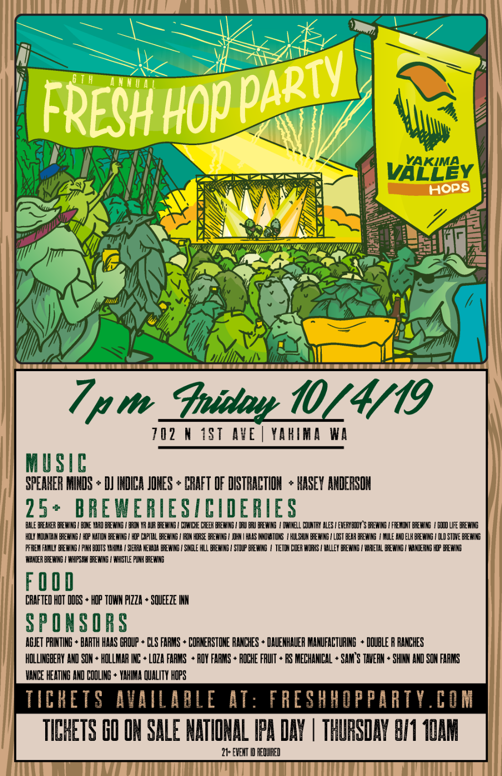 Yakima Valley Hops Presents The Fresh Hop Party Gongago Tri