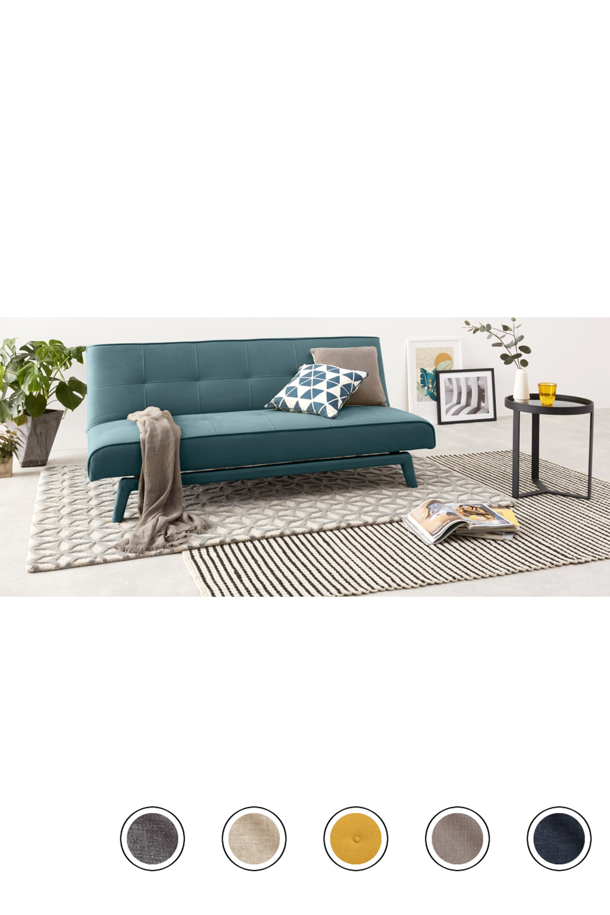 Yoko Click Clack Sofa Bed Sherbet Blue Sofa Bed For Small Spaces Sofa Minimalist Sofa