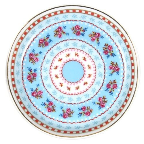 Ribbon Rose Petite Tea Tip Plate Set of 4