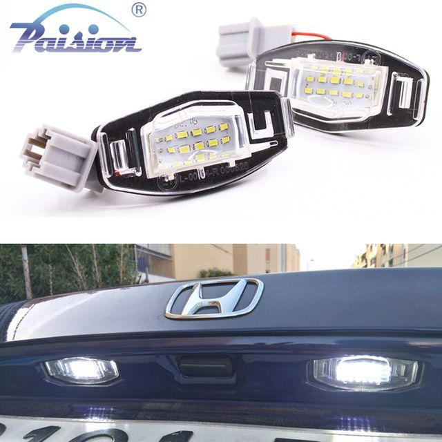 2pcs White 18 LED License Plate Lights For Acura RL TSX