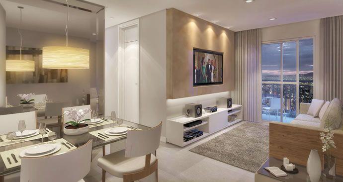 Decora o de sala pequena estar sala jantar sala conjugada for Sala de estar funcional