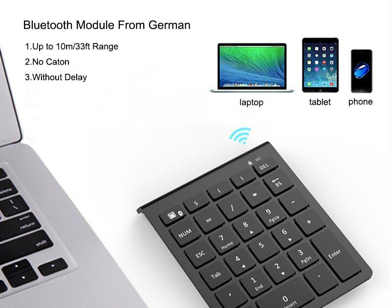 Discount !! AVATTO 28 Keys Bluetooth Wireless Numeric Keypad Mini