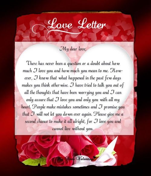 Valentines Day Love Letter Ideas  Valentines Day Love Letters For