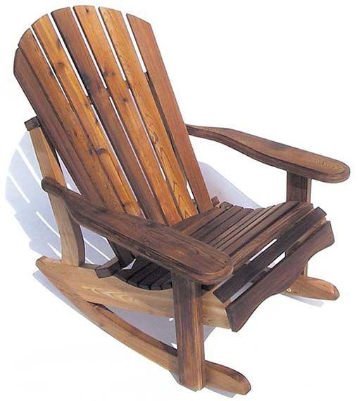 eagleu0027s nest cedar adirondack rocker - Adirondack Rocking Chair