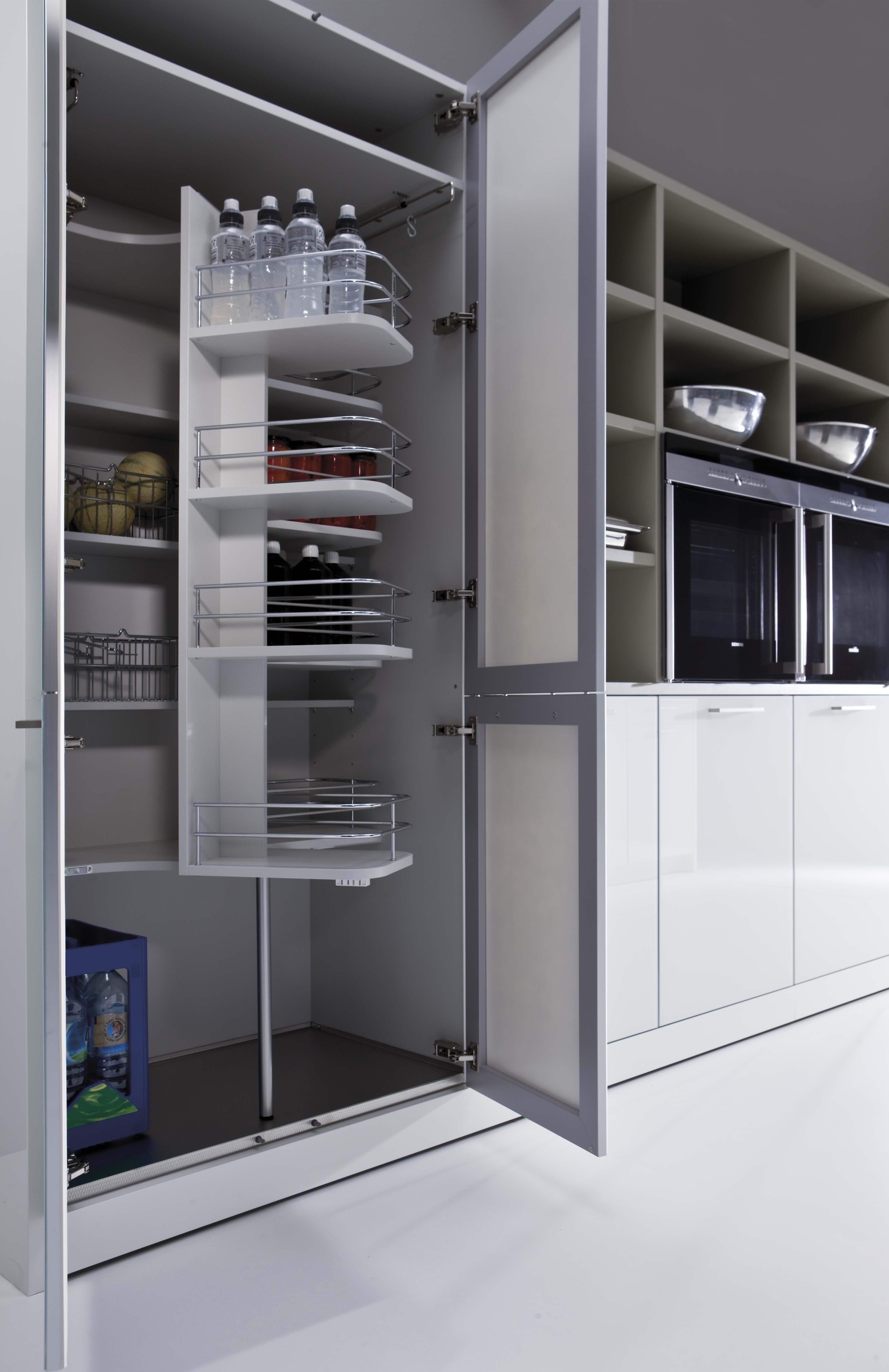despensa-vitrina con vidrio y accesorios de storage | COCINA ...