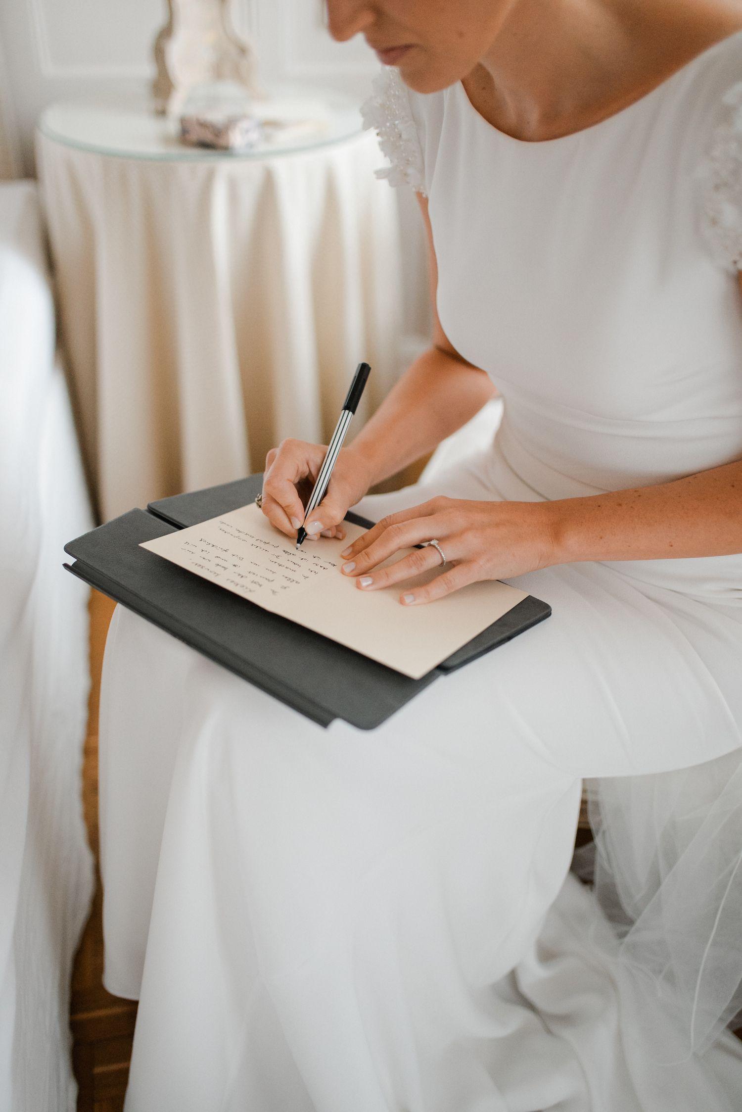 Selbstgeschriebene Eheversprechen