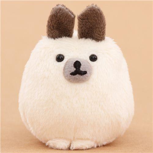 cream-grey Mofutans mochi rabbit plush toy prodotto da San-X dal Giappone 1