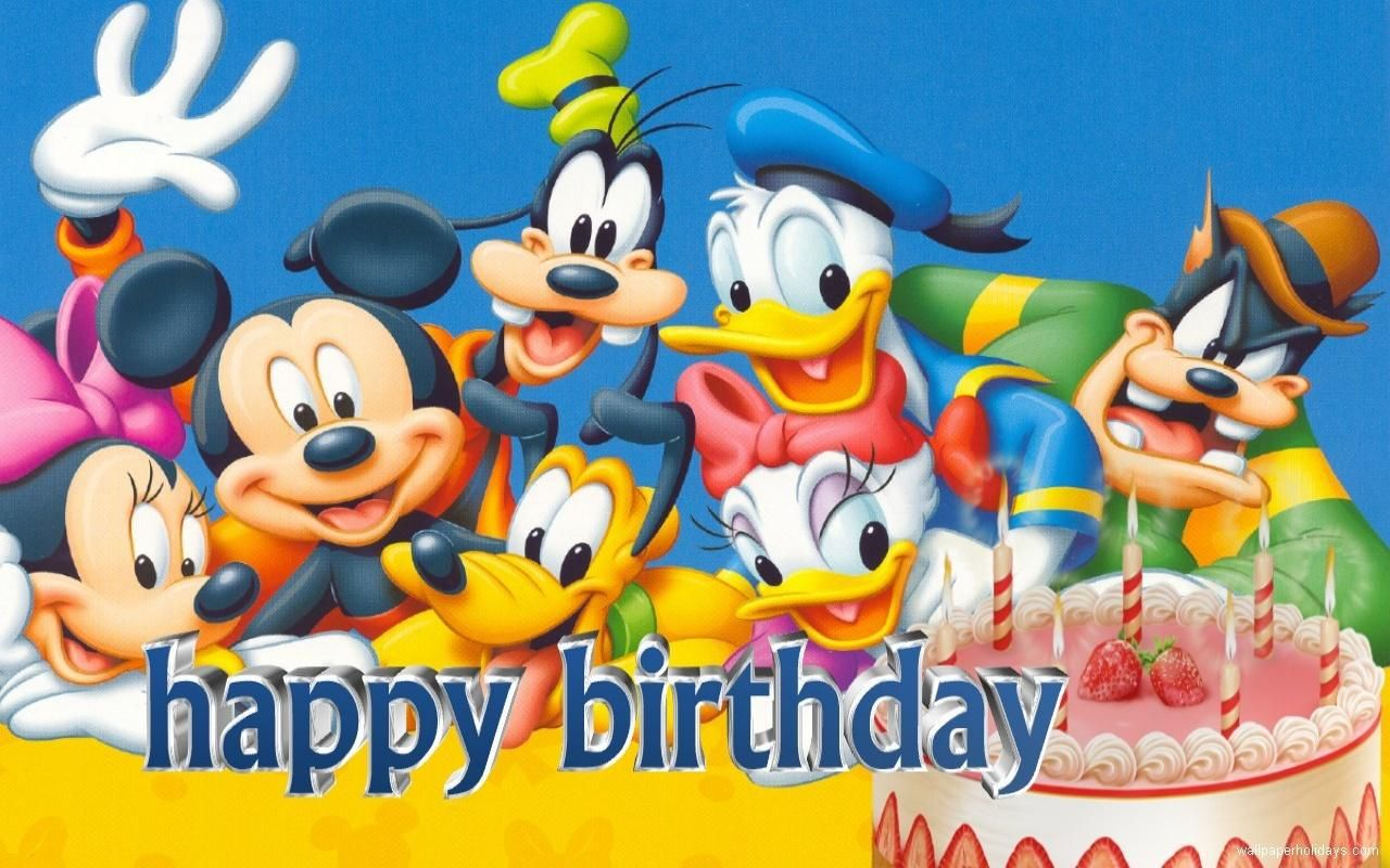 Disney Birthday Mickey Mouse And Friends Mickey Mouse Wallpaper