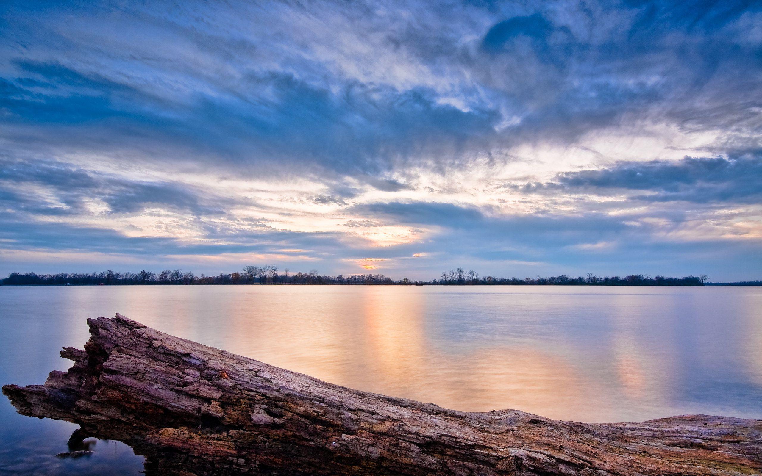 Ipad Hd Wallpaper Nature: Sunset And A Beautiful Lake