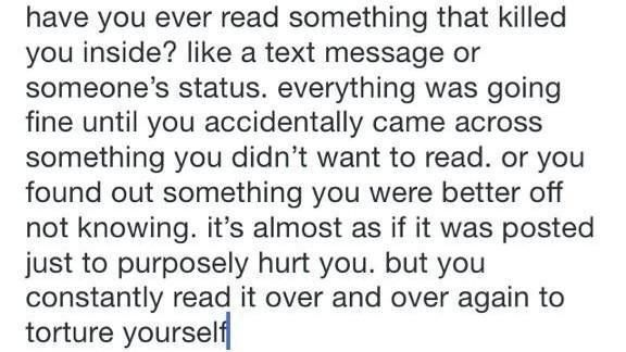 This is so me.