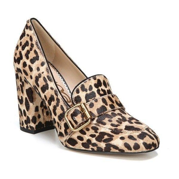Stillson Leopard Print Brahma Calf Hair Block Heel Pumps UVnhwDFqyt