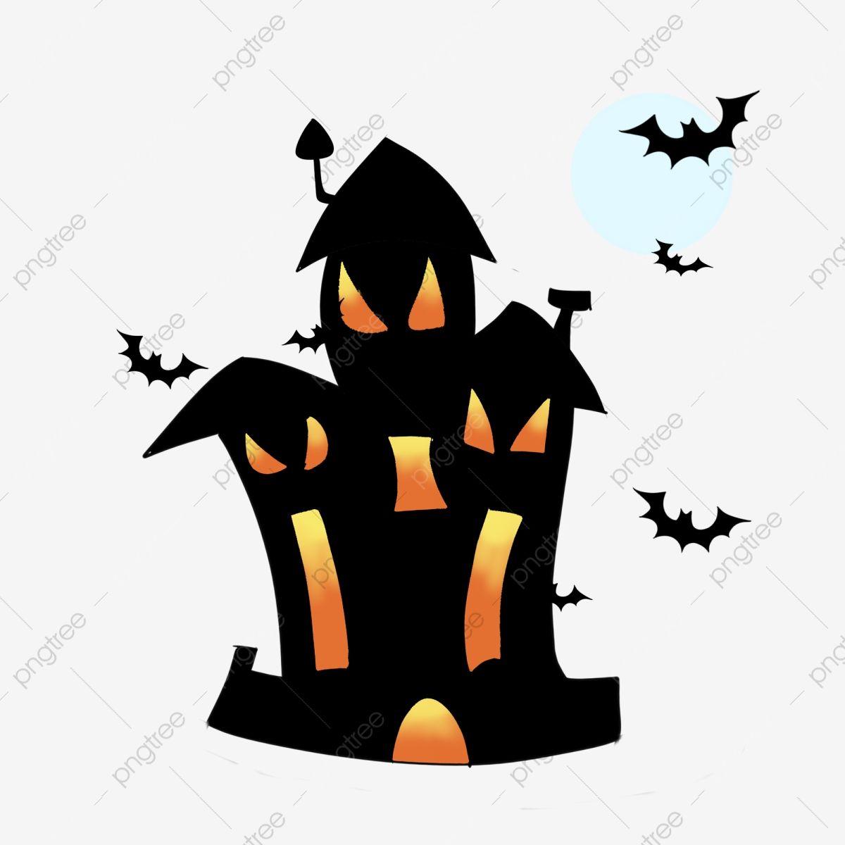 Halloween Theme Chateau De La Maison Hantee Illustration Clipart Chateau Festival Fantome Fete D Halloween Fichier Png Et Psd Pour Le Telechargement Libre Dessin Halloween Maison Hantee Maison Hantee Halloween
