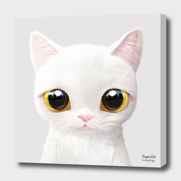 «Miu» Canvas Print by Sugar Cat & Candy Doggie - Numbered Edition from $59 | Curioos