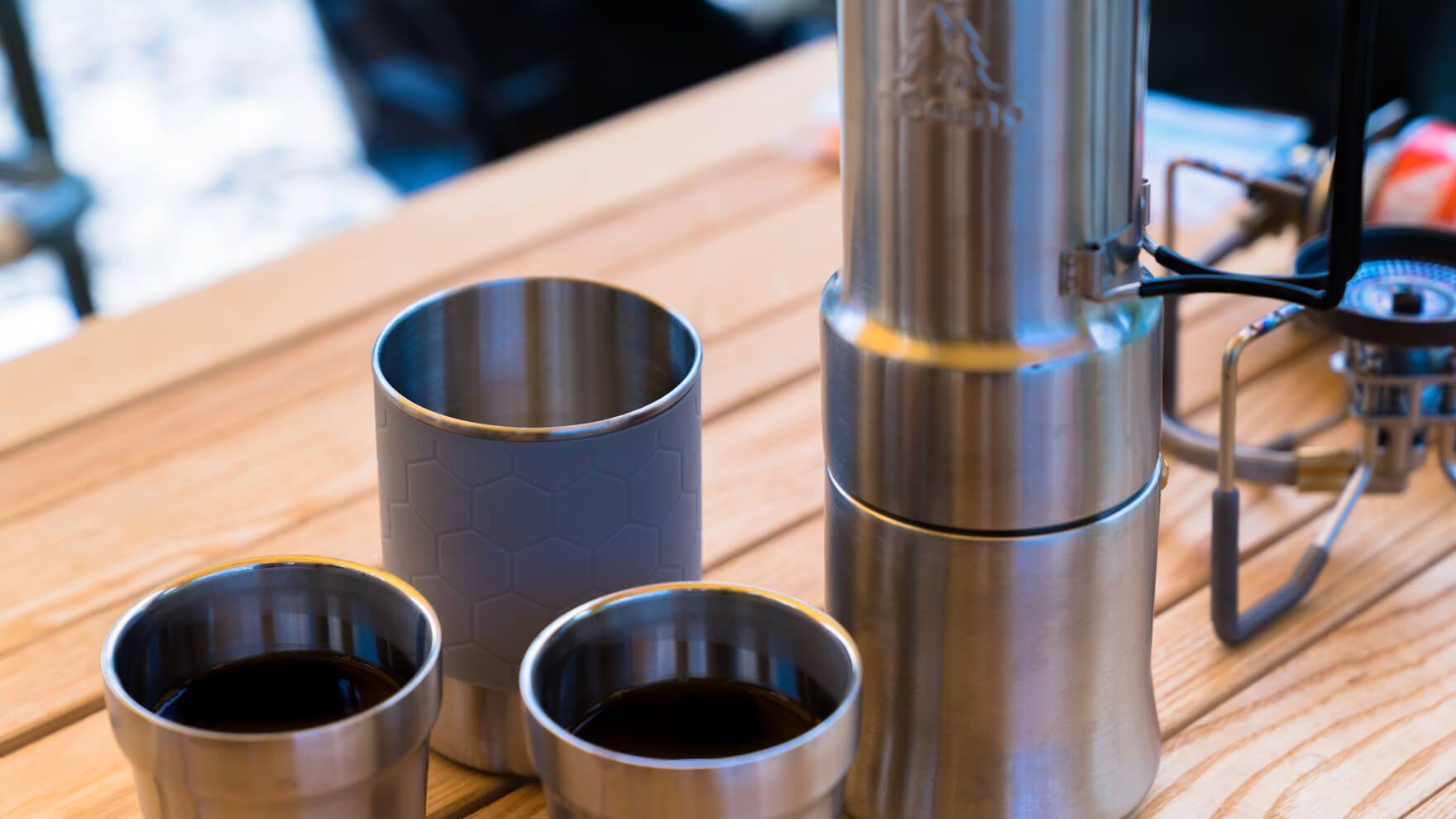 アウトドアで気軽にエスプレッソが愉しめる直火式エスプレッソメーカー Ncamp コーヒーシェアセット でキャンプはアガるし おうちキャンプも捗った 2020 アウトドア エスプレッソ セット