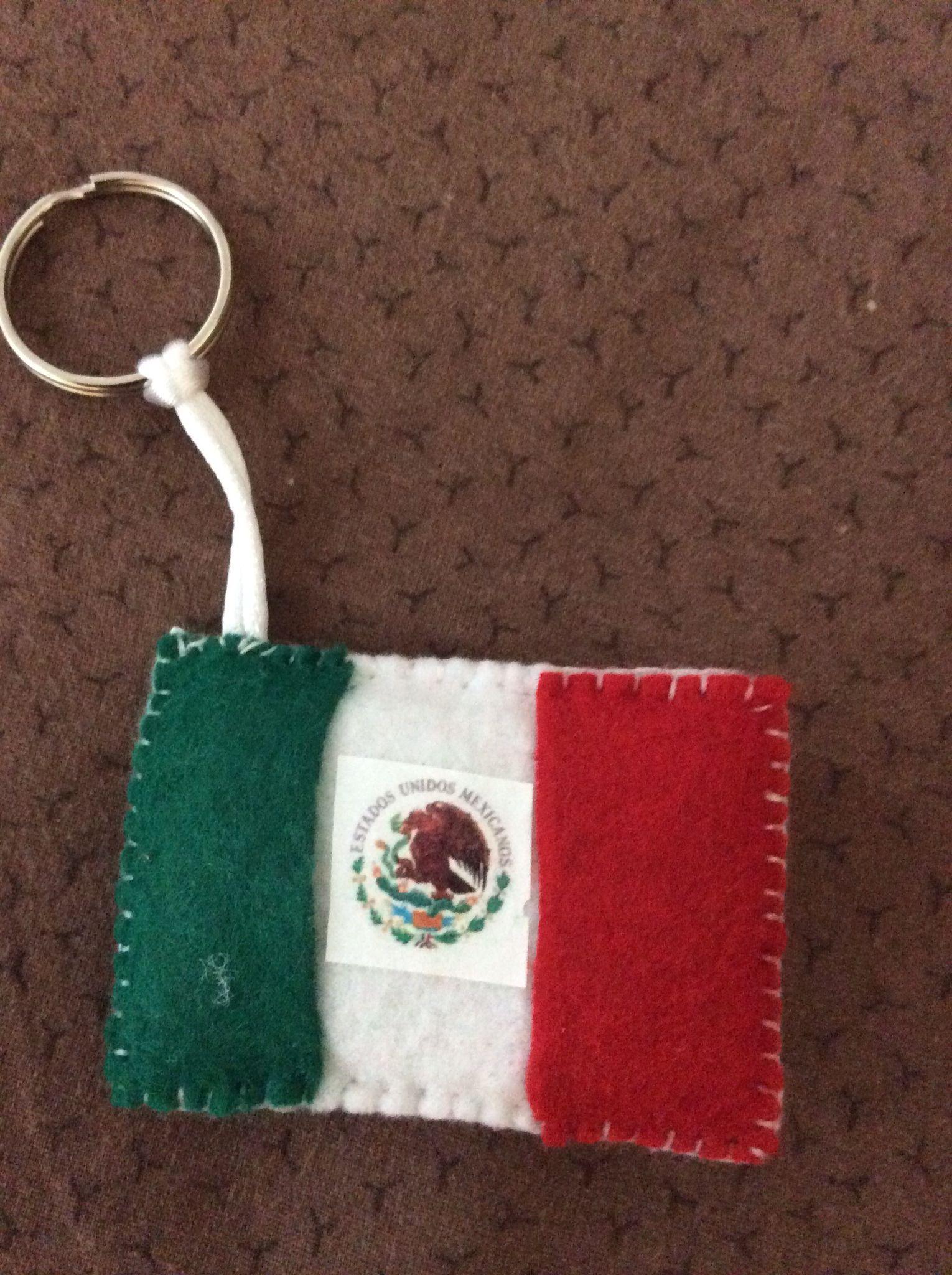Llavero de fieltro bandera mexicana