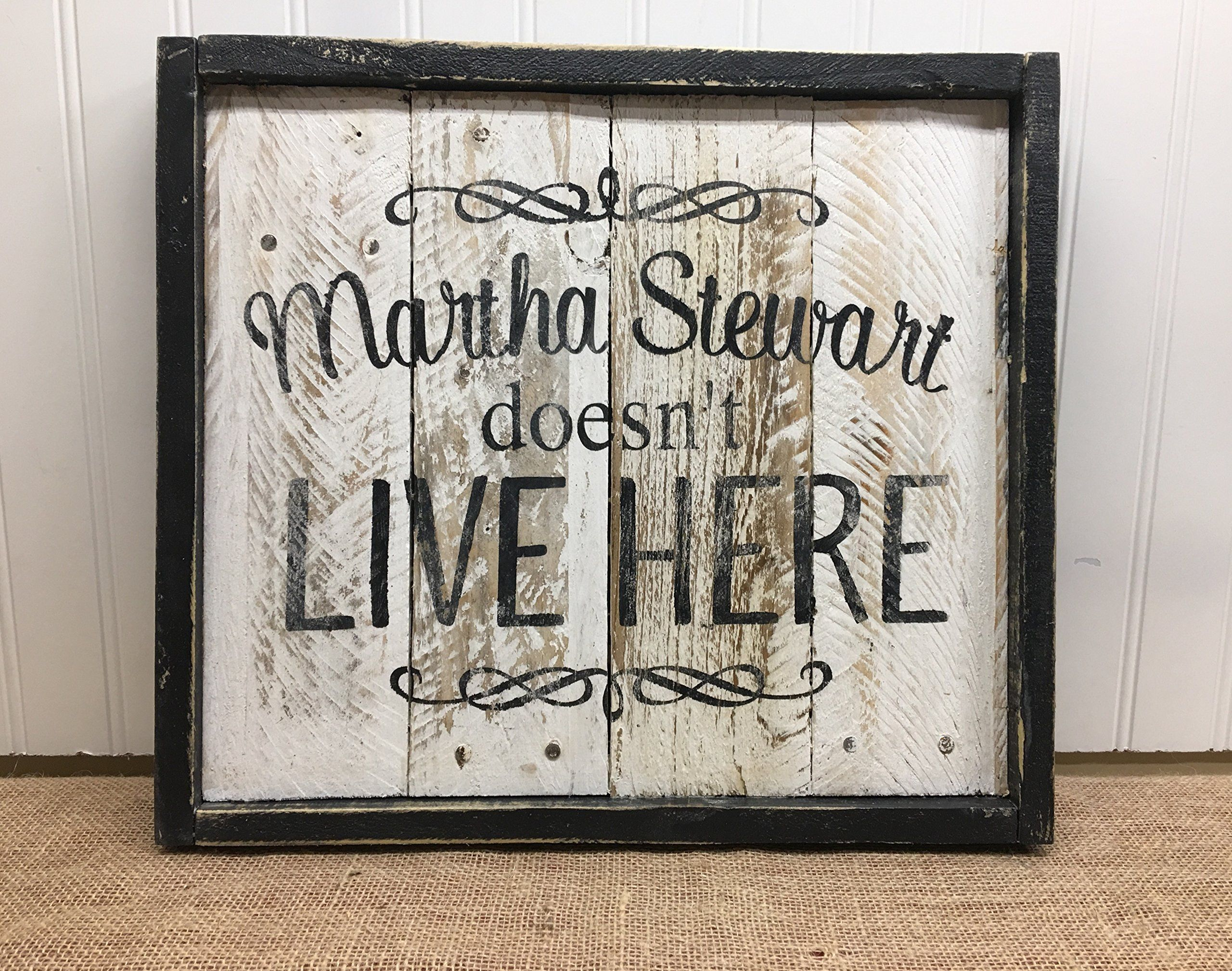 Martha stewart quote reclaimed wood pallet sign home decor x