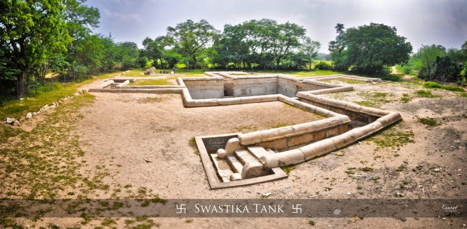 The Temple tank Swastik Kulam (pond) or Maamiyaar -Maattu Penn (Mother in law – Daughter in law) theertham, is listed as a Protected monument by Archeological Survey of India (ASI) . Located at about 20 km north of Tiruchirappalli, enroute to Thuraiyur.