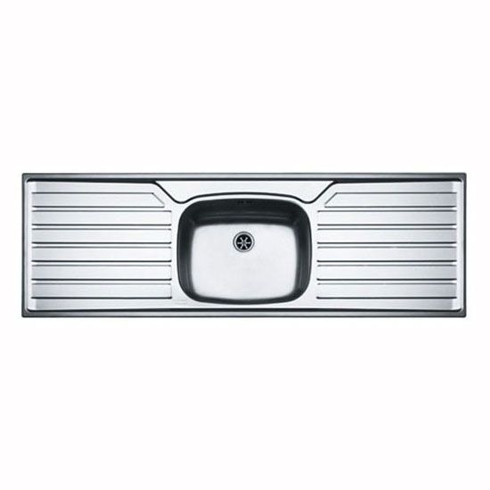 Franke UK UK612 Stainless Steel Kitchen Sink, 1.0 Bowl, Double ...