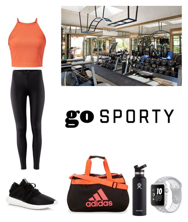 """""""Untitled #68"""" by cathcathy ❤ liked on Polyvore featuring adidas, H&M and Hydro Flask"""