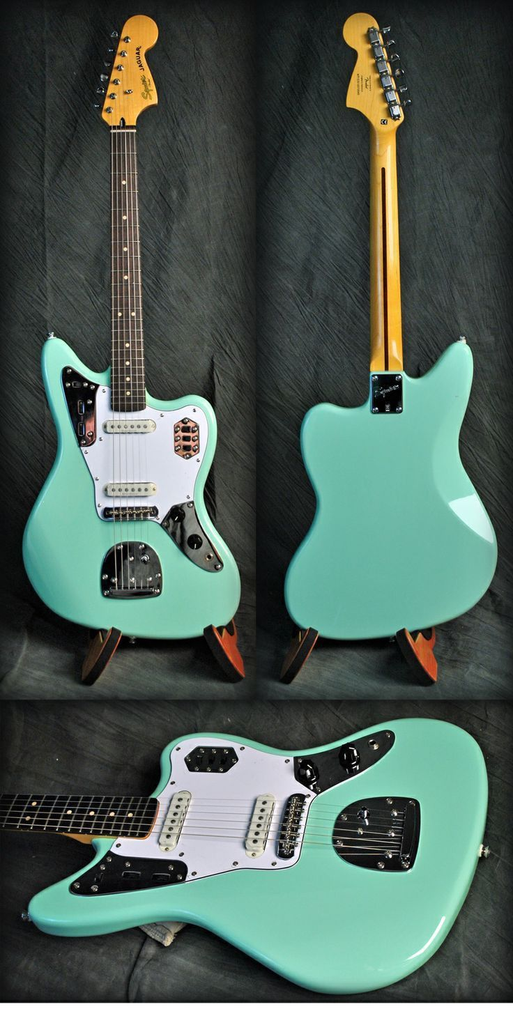 Squier By Fender Jaguar Seafoam Green