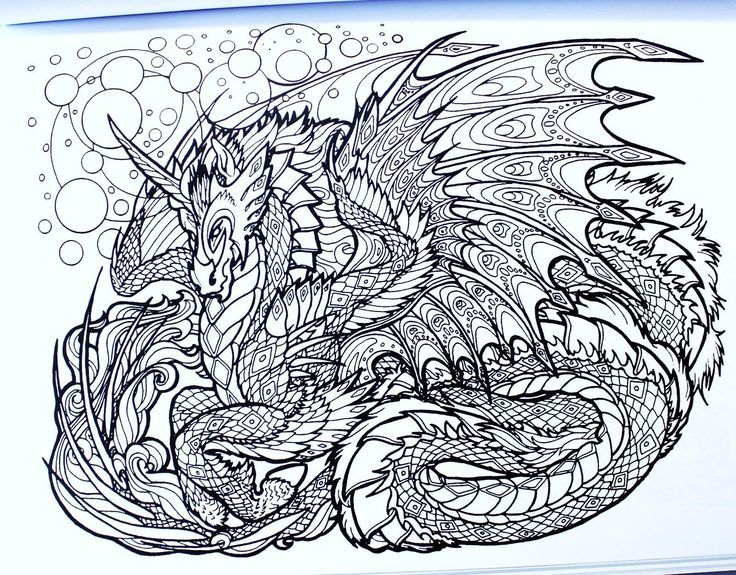 49+ Complex dragon coloring pages ideas in 2021