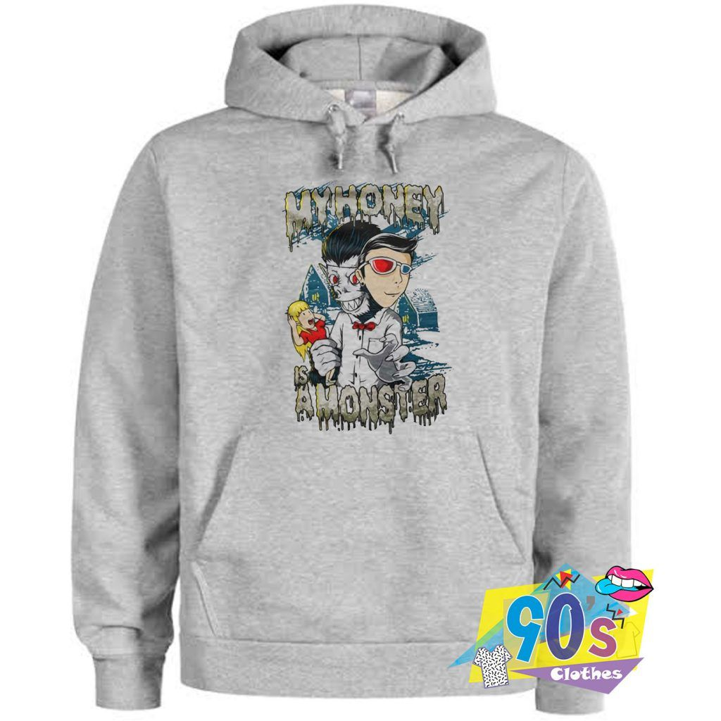 Best Sell My Honey Is A Monster Horror Hoodie 90sclothes Com Hoodies Horror Hoodie Cheap Urban Clothing [ 1024 x 1024 Pixel ]