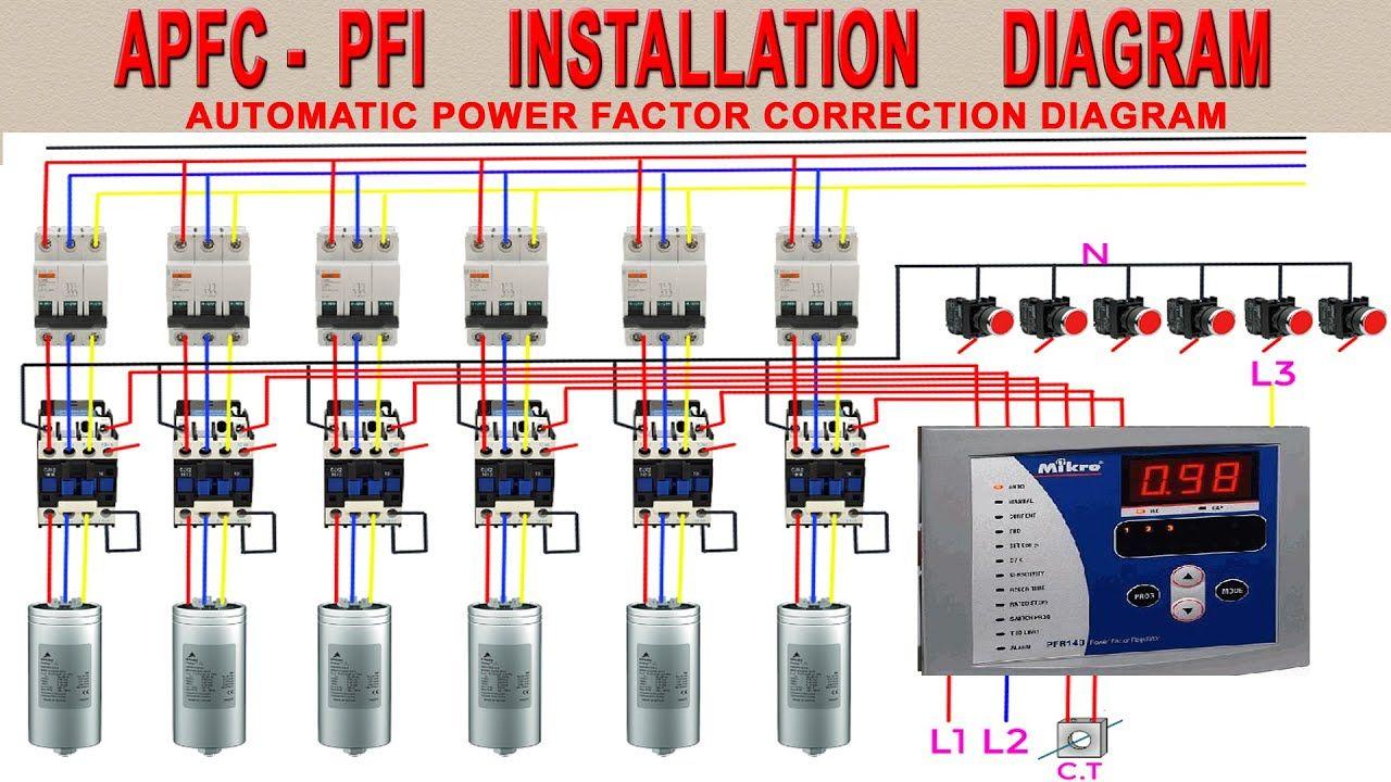 Pfi Panel Board Wiring Diagram Power Factor Improvement Diagram Pfi Circuit Diagram Apfc Fig Circuit Diagram Control Panels Electronic Engineering