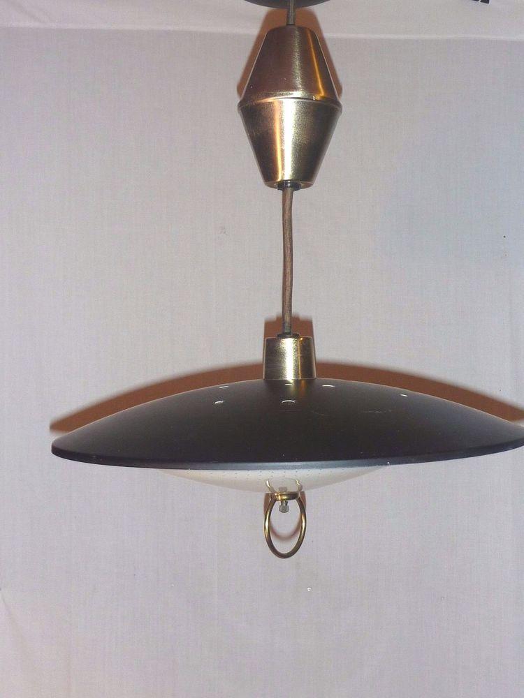 VTG Mid Century Star Light Pull Down Retractable Atomic UFO Light ...