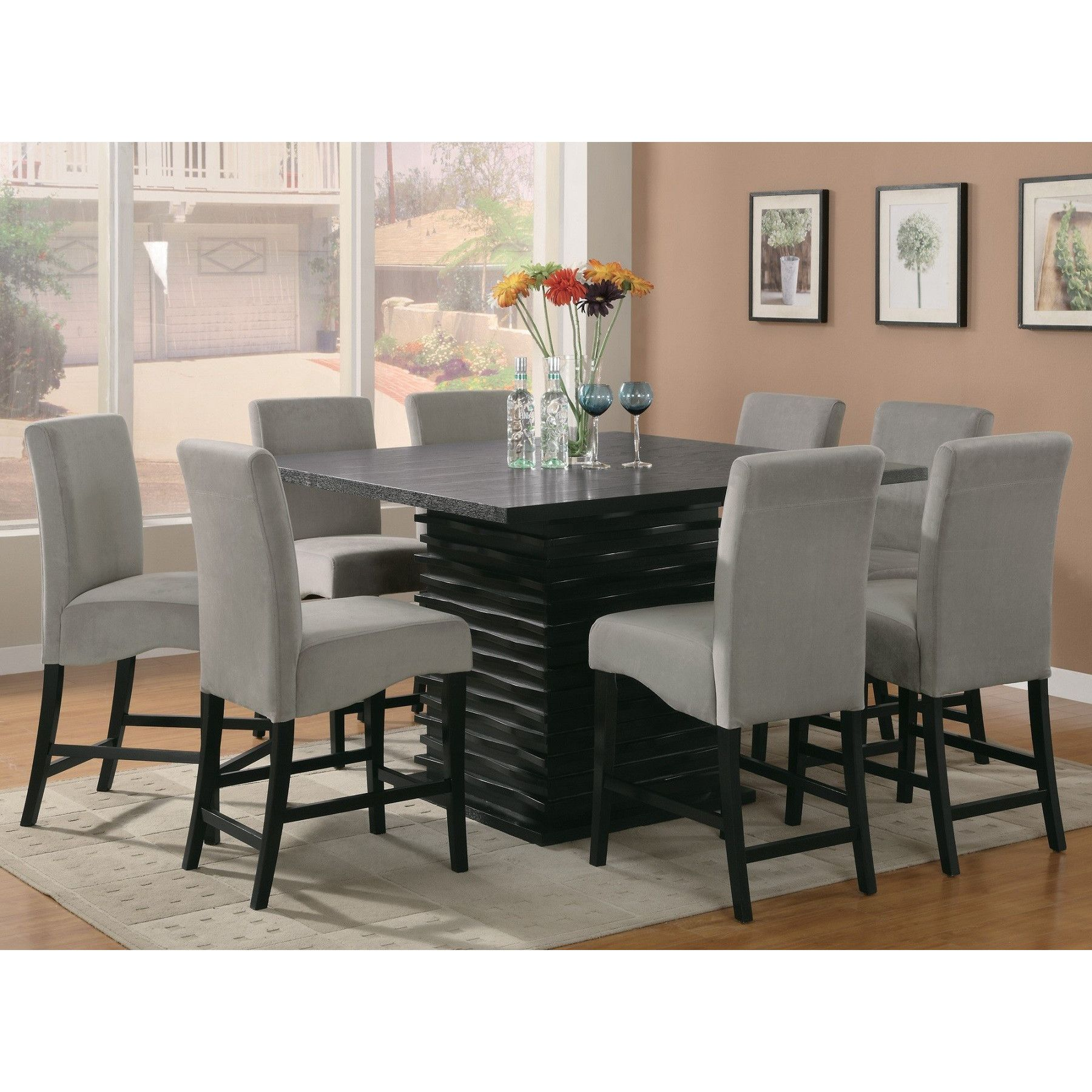 Infini Furnishings Jordan 9 Piece Counter Height Dining Set Enchanting 9 Piece Dining Room Design Ideas
