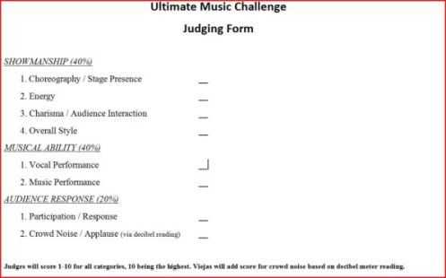Judge Audition Sheets  Talent Show Judging Sheet Http