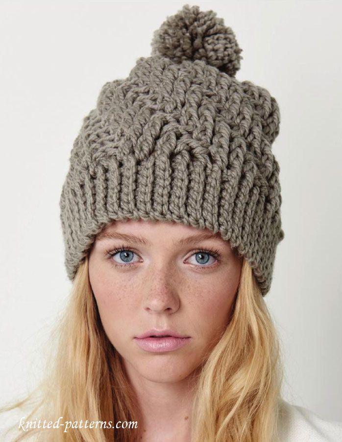 58f17707939 Crochet winter hat pattern free