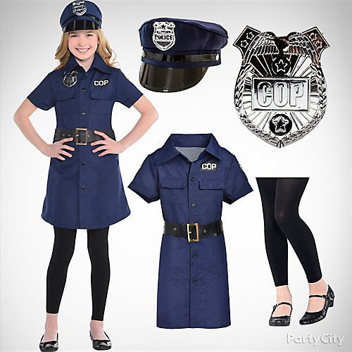 2ac4952d328 Top Girls' Halloween Costume Ideas | Police Costumes for Girls | Cop ...