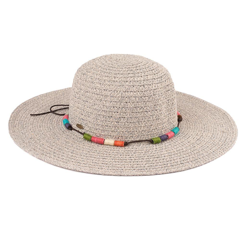f5339f0d274 Summer Brim Hat With Tassel Band (ST-505)
