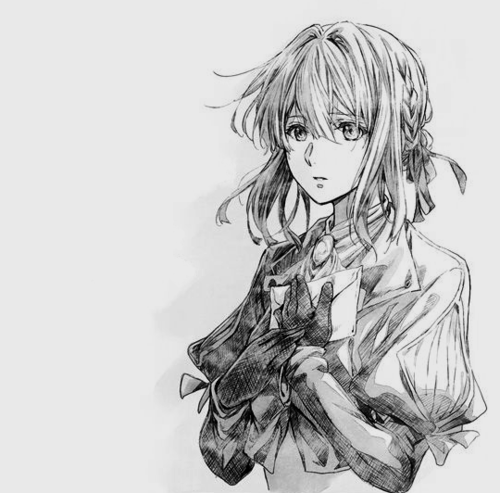 Imagen De Anime Black And White And Violet Violet Evergreen Violet Evergarden Anime Anime Sketch