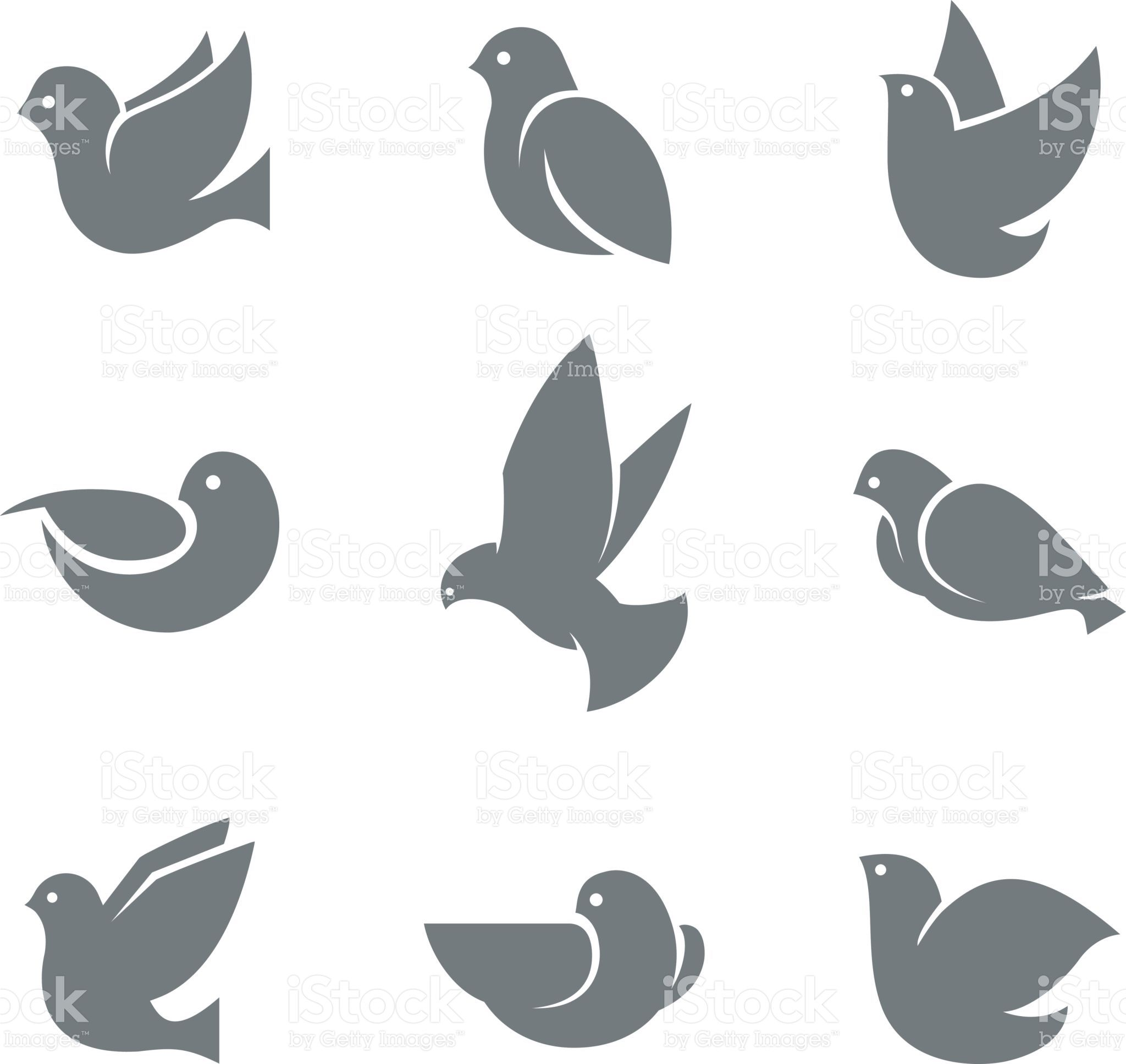 Dove Grey Silhouette Symbol Of Peace On Earth Love Or Mail