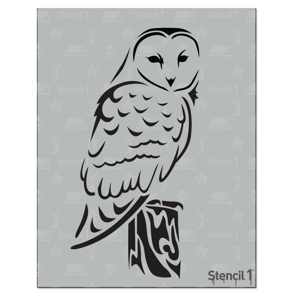 Stencil1 Barn Owl Stencil | Owl stencil, Stenciling and Owl