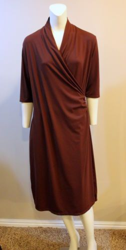 TravelSmith-Dress-Wrap-Front-Knee-Length-Wrinkle-Free-Small-4-6