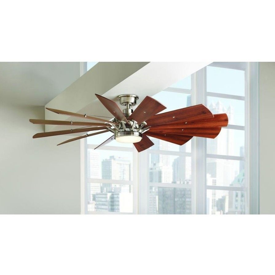 Details about rustic ceiling fan 60 inch led light remote