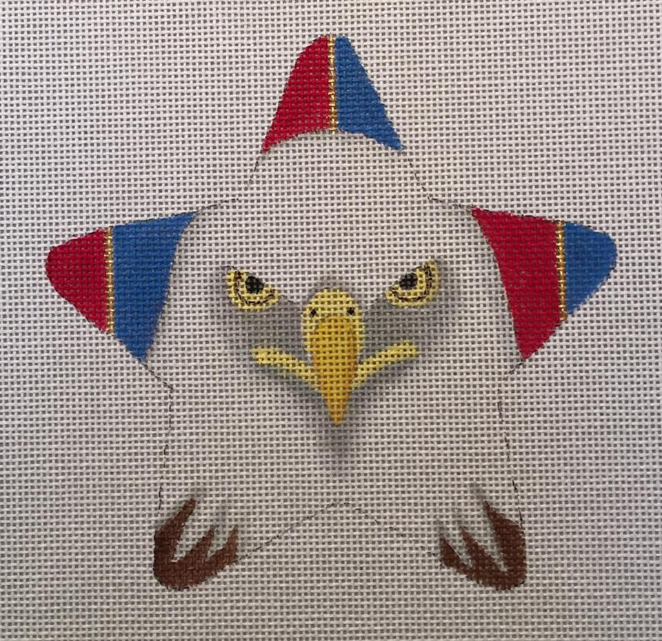 Needlepoint Kit or Canvas American Eagle