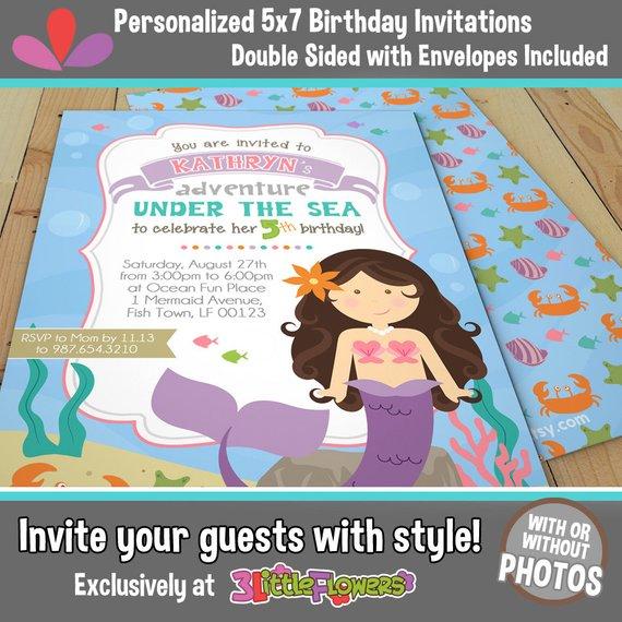 Mermaid Birthday Invitations