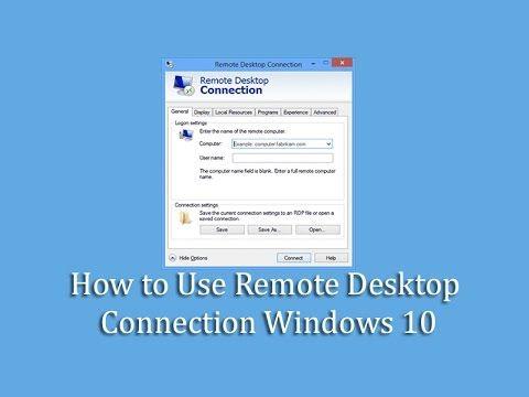 YouTube Excel Pinterest Remote desktop protocol and Windows 10