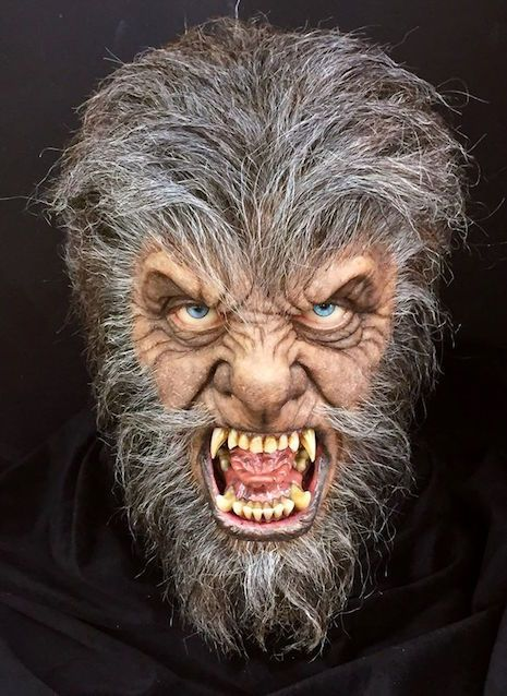 face sculpture of anthony hopkins as the wolfman from the