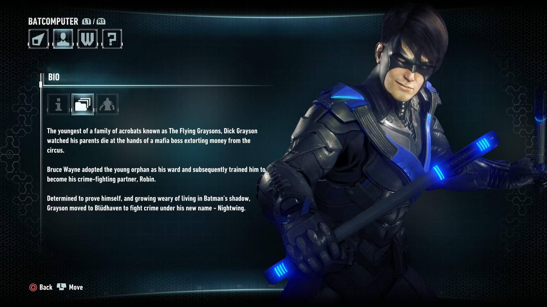 Nightwing bio nightwing arkham knight character arkham