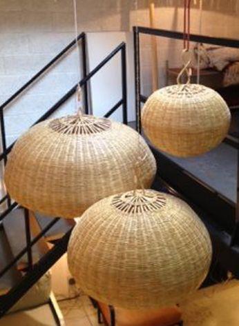 honor d coration luminaires miroirs boule en paille vannerie pinterest pailles. Black Bedroom Furniture Sets. Home Design Ideas