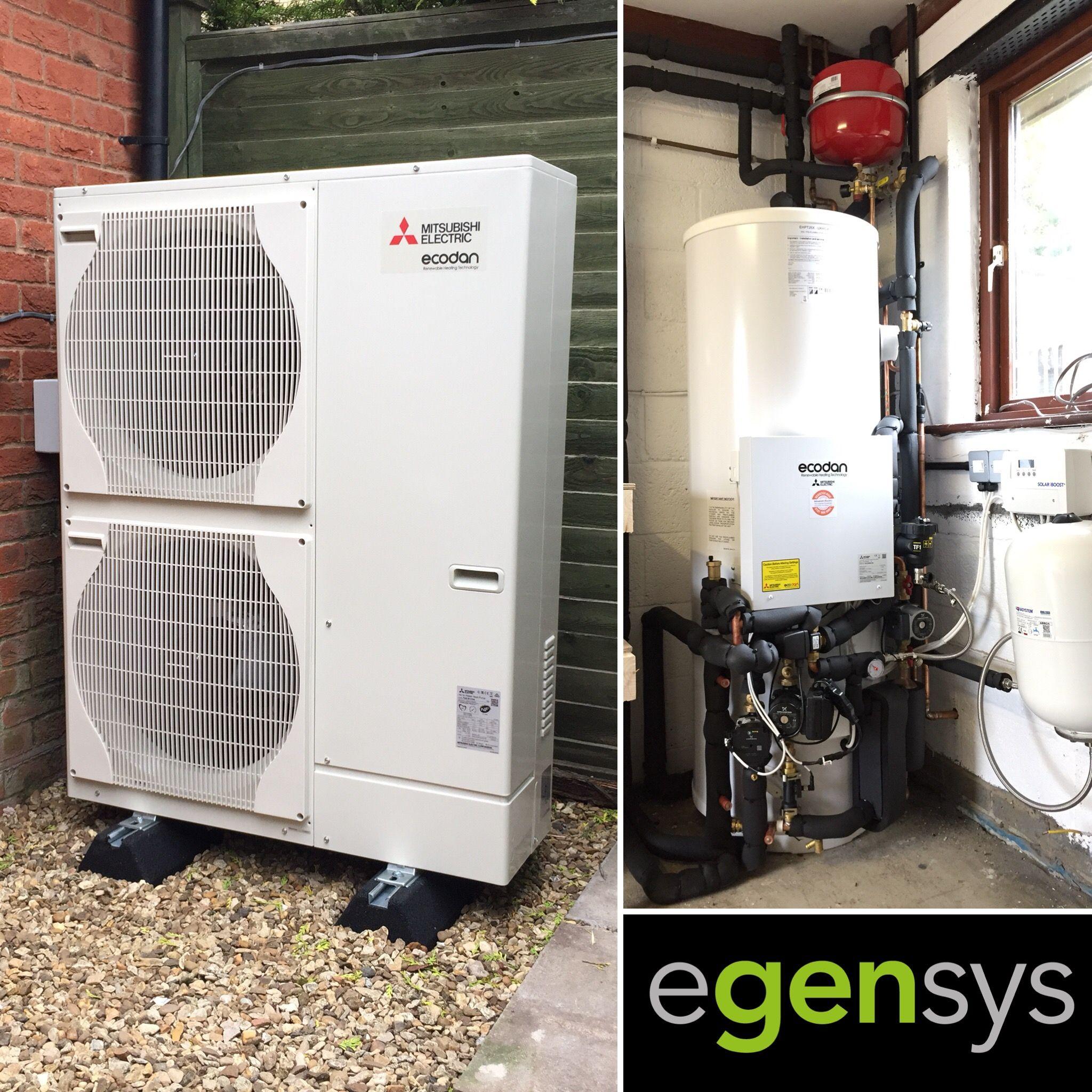 11.2kW Ecodan Air Source Heat Pump (PUHZ‑W112VHA) with