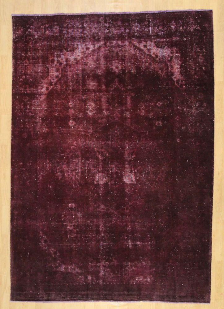 Orientteppich Patchwork Vintage modern Handgeknüpft  carpet perser 322 x 220