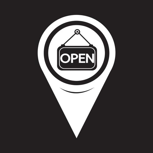 Map Pointer Open Icon Isometric Map Free Vector Illustration Icon