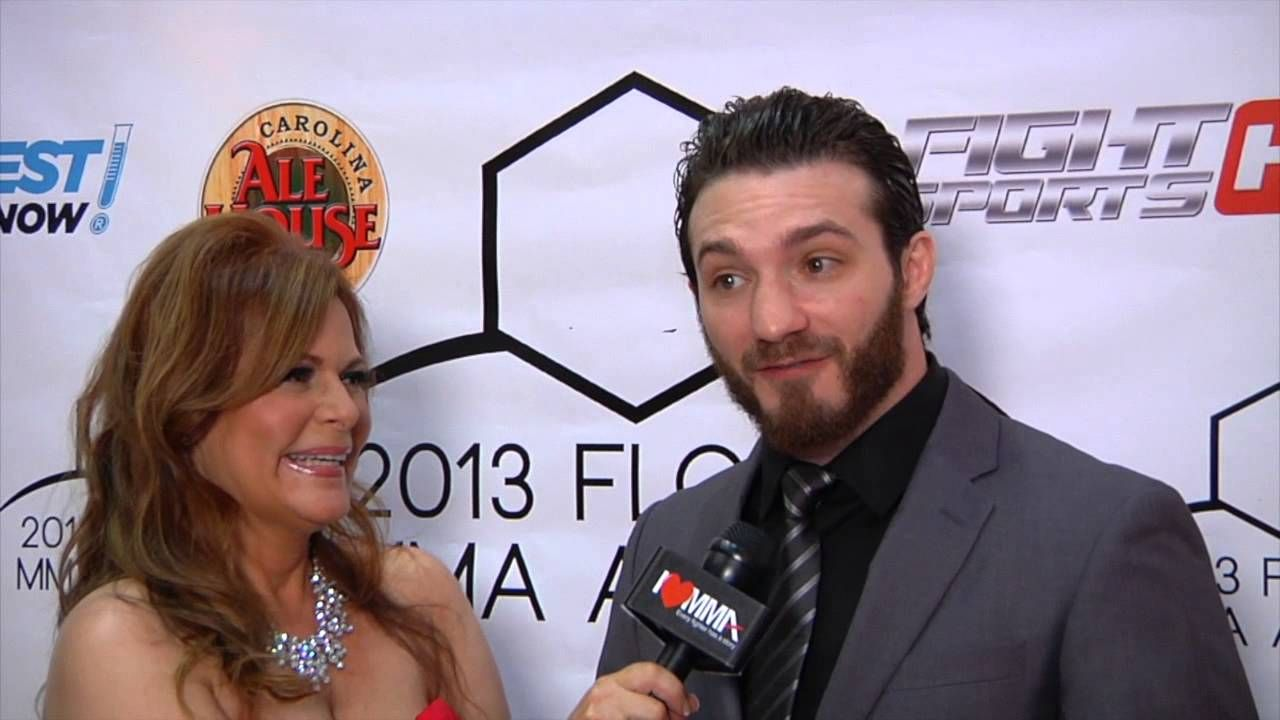 Flashback Friday Susan Cingari speaks w UFC fighter Mike Rio at  MMA Award show. Mike Rio is fighting Frank Carillo August 29 at,Fight Time Promotions MMA: Fight Time 20 in Fort Lauderdale Florida