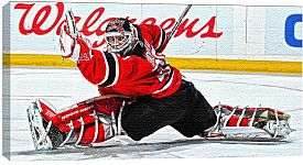 Marty Brodeur Canvas Print Hockey Nhl Apparel Hockey Goalie